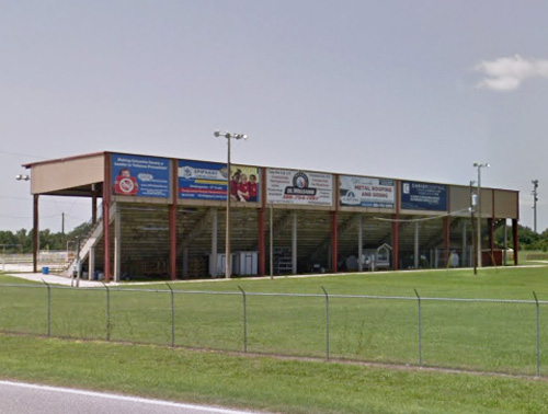Image of the location for the banner at the Rodeo Arena