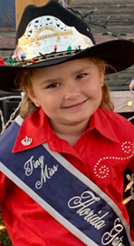 Pro Rodeo Queen Tiny Miss Rileigh Milligan